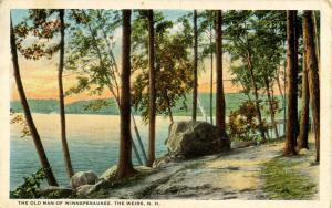 NH - Lake Winnipesaukee. The Old Man of Winnipesaukee at Weirs