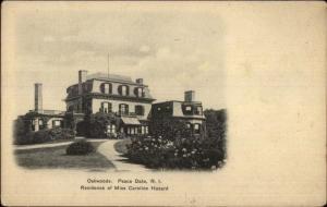 Peace Dale RI Oakwoods Caroline Hazard Home c1905 Postcard