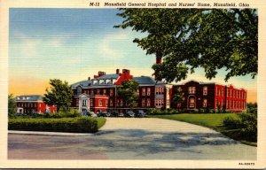Ohio Mansfield General Hospital and Nurses' Home 1943 Curteich