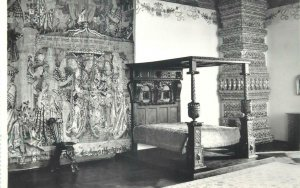 Postcard Poland Krakow Wawelu church bedroom sculpture fresques tapistry