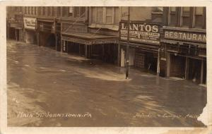 F19/ Johnstown Pennsylvania RPPC Postcard 1913 Main Street Flood Disaster