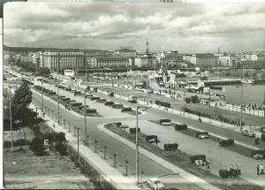 Poland, Gdynia, Kosciuszko Square, 1965 used real photo