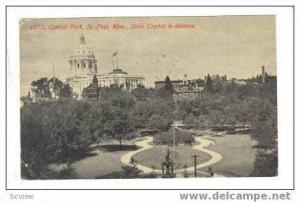 Central Park & State Capitol, St. Paul, Minnesota, 1913