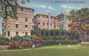 The Weldon Hotel - Greenfield MA, Massachusetts - pm 1959 - Linen