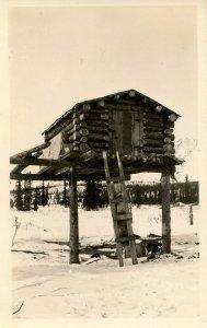 AK - Log Cabin on Stilts, 1930's