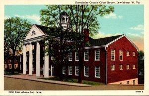 West Virginia Lewisburg Greenbrier County Court House Curteich