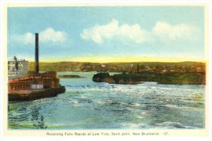 New Brunswick, St.John Reversing Falls at Low Tide