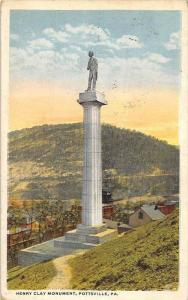 11893  PA Pottsville 1920's   Henry Clay Monument
