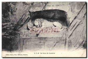 Old Postcard The Lion of Lucerne