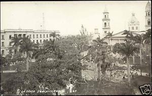 mexico, TAMPICO, Plaza Principal (1950s) RPPC