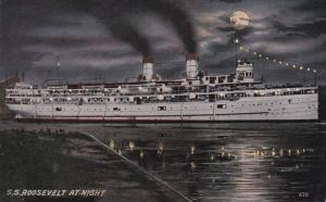1900-1910's; S.S. Roosevelt At Night