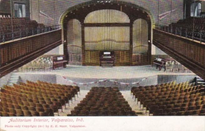 Indiana Valparaiso Auditorium Interior 1910