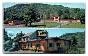 Postcard Cote's Restaurant & Motel, West Claremont NH D46