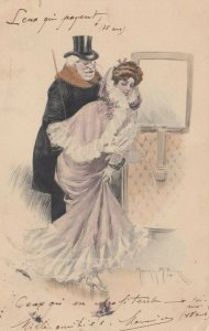 M.M.VIENNE Nr. 215 , 1904 , Old Man , Young Woman
