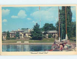 Pre-1980 SAILBOAT AT THOUSAND ISLAND CLUB Thousand Islands New York NY hp8638