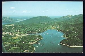 Northeast Harbor, Maine/ME Postcard, Spectacular Aerial View