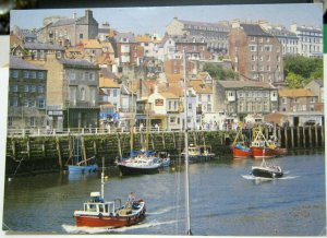 England Whitby Harbour Yorkshire - posted 1990