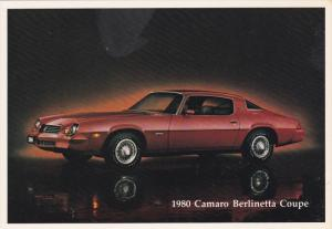 1980 Chevy Camaro Berlinetta Coupe Automobile, Dealer issue