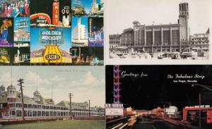 Las Vegas Hampton Beach 4x Vintage Casino Postcard s