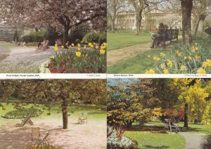 Deck Chairs In Bath 4x Relaxation Avon Postcards