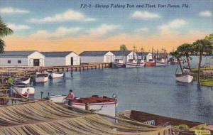 Florida Fort Pierce Shrimp Fishing Port And Fleet