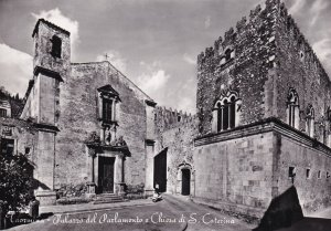 RP; TAORMINA, Sicilia, Italy, 1930-1940s; Parliament's Palace And St. Catheri...