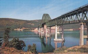 CAPE BRENTON, Nova Scotia, Canada; Bras d'Or Bridge, Trans Canada Highway, Vi...