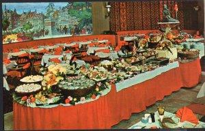 MA BOSTON Copenhagen Restaurant Interior Sheraton-Plaza Hotel Chrome 1950s-1970s