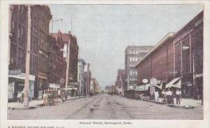 Iowa Davenport Second Street