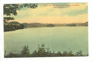 Upper End, Mc Intyre's and Lasher's in distance, Lake Gossaynna, New York, 00...