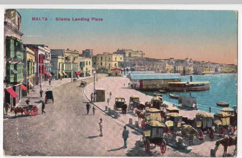 Malta; Sliema Landing Place PC 1918 To Hutchings At Red Cross Hospital, Wilmslow