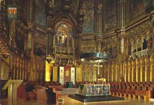 POSTAL 57360: Montserrat Interior de la Basilica