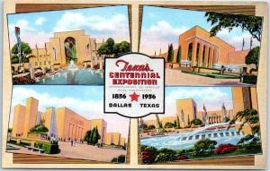 1936 TEXAS CENTENNIAL EXPOSITION Postcard 4 Building Views Dallas Kropp Unused