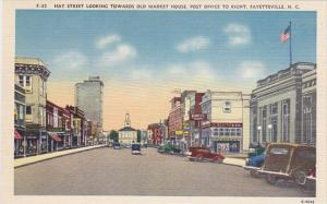 Hay Street Looking Towards Old Market House Post Office To Right Fayetteville...