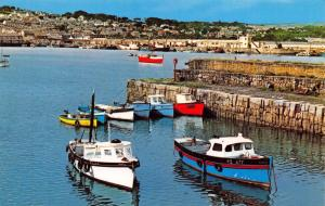 Vintage Postcard CORNWALL The Harbour, Newlyn by NPO #B7096