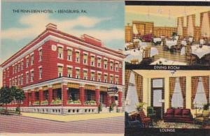Pennsylvania Ebensburg The Penn-Eben Hotel Showing Dining Room and Lounge