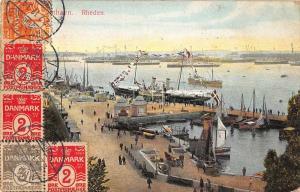 Rheden Netherlands Harbor View Antique Postcard J72411