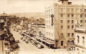 Pendleton Oregon~Street Scene~Temple & Rex Hotels~East Oregonian~Rivoli~40s RPPC