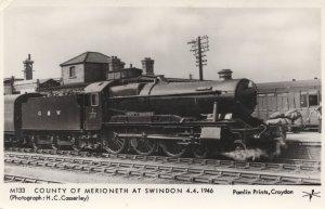 GWR 1019 County of Merioneth Swindon 1946 Train Postcard