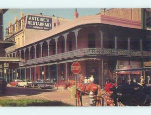 Pre-1980 OLD CARS & ANTONIE'S RESTAURANT New Orleans Louisiana LA p7086