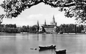 Konstanz am Bodensee, Blick auf Muenster und Insel Hotel Schiff Boats Lake Lac
