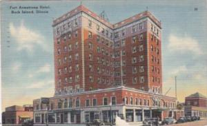 Illinois Rock Island Fort Armstrong Hotel 1943