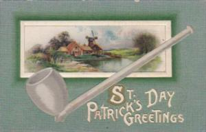 Saint Patrick's Day With Pipe & Landscape Scene