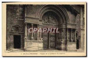 Old Postcard Facade Cathedrale St-Trophime Arles