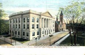 Rensselaer County Court House Troy NY Unused