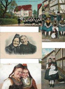 Germany - Hessische Volkstrachten Lot of 12 Postcards 01.08