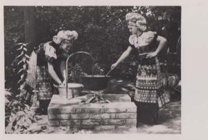Mezokovesd Hungary Traditional Ladies Dress Costume Fashion Real Photo Postcard