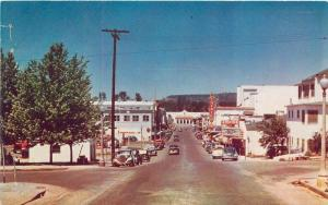 Autos Goldtown 1940s Oroville California Marquee Roberts postcard 837