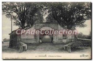 Postcard The Old Fontannes Entree du Chateau