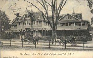 Trinidad BWI Queen's Park Hotel 1909 Used Postcard